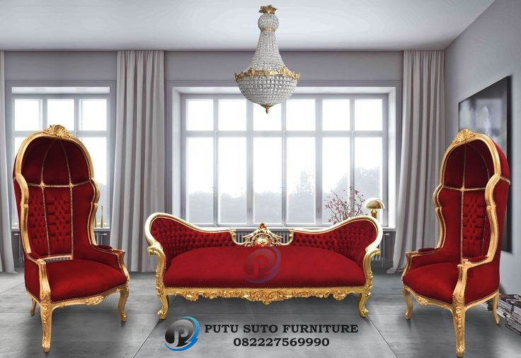 Kursi Sofa Tamu Gold Princess PS-333